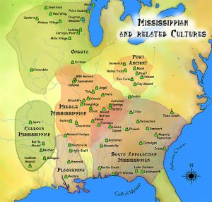 """""""Mississippian cultures HRoe 2010"""" by Herb Roe. Licensed under CC BY-SA 3.0 via Wikimedia Commons"""