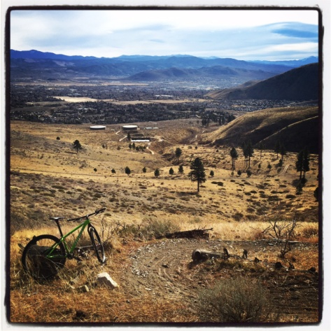View back down to Carson City from the trail.
