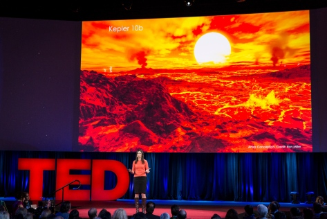 Sara Seager speaks at TED2015 - Truth and Dare, Session 4. Photo: Bret Hartman/TED