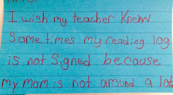 What poor students wish their teachers knew about them