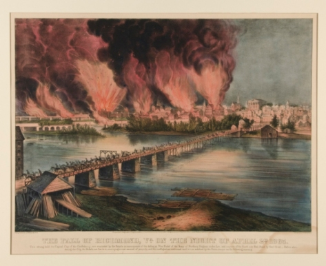 """The Fall of Richmond, Virginia, on the Night of April 2nd 1865"""