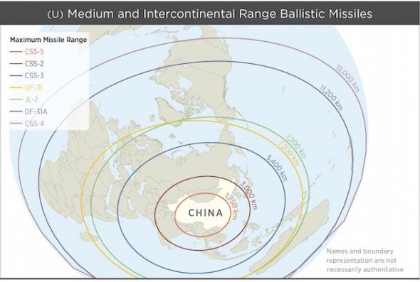 PLA-missile-ranges