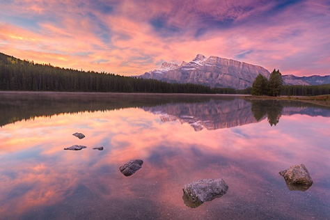 Two Jack Lake Sunrise, Banff National Park, Alberta